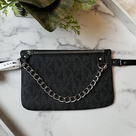 b3db605b230548 Michael Kors Bags | Black Chain Belt Bag Fanny Pack | Poshmark